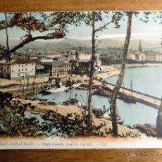 Postales: POSTAL COLOREADA, SAN SEBASTIAN, VISTA TOMADA DESDE EL CASTILLO. Lote 53997534