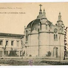 Postales: VITORIA CAPILLA DE LA SAGRADA FAMILIA ED. PIO LUIS LARRAÑAGA FOTOTIPIA HAUSER Y MENET. ESCRITA. Lote 54581711