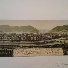 Postales: FOTOGRAFÍA POSTAL DOBLE PANORÁMICA DE SAN SEBASTIÁN 1903 - 29 X 9 - LEER TEXTO - RAMMLER & JONES. Lote 54593618