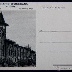 Postales: POSTAL DEL SEMINARIO DIOCESANO. VITORIA (ALAVA). AÑOS 50.. Lote 54760380