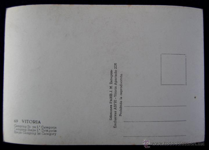 Postales: POSTAL DE VITORIA (ALAVA). Nº69. CAMPING IBAYA 1ª CATEGORIA. EDICONES PARIS. AÑOS 50 - Foto 2 - 54760628