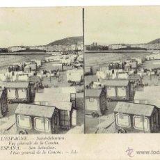 Postales: PS6036 SAN SEBASTIÁN 'VISTA GENERAL DE LA CONCHA'. ESTEROSCÓPICA. LL. SIN CIRCULAR. PRINC. S. XX. Lote 51732482