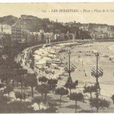 Postales: PS4864 SAN SEBASTIÁN 'PASEO Y PLAYA DE LA CONCHA'. ED. G. GALARZA. CIRCULADA EN 1913. Lote 45754561