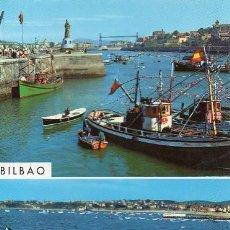 Postales: BILBAO - 66 SANTURCE Y PLAYA DE LAS ARENAS. Lote 54964486