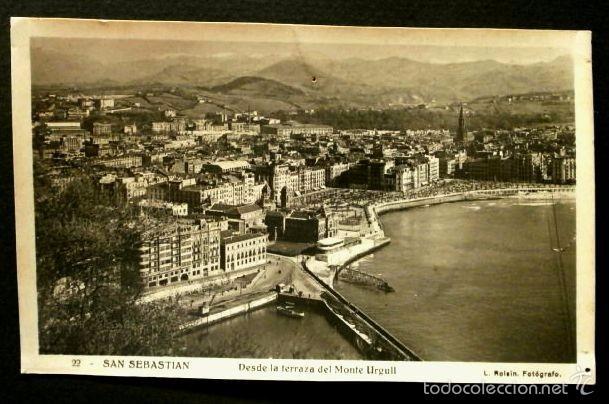 SAN SEBASTIAN (GUIPUZCOA) Nº 22 DESDE TERRAZA MONTE URGULL -ED.ROISIN -SIN CIRCULAR- PAIS VASCO (Postales - España - País Vasco Moderna (desde 1940))