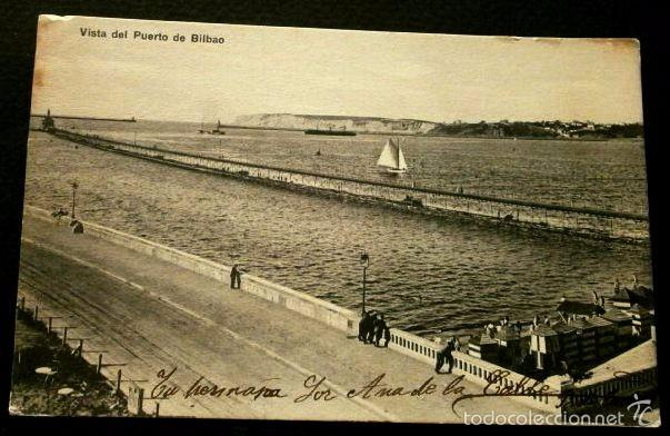 BILBAO (VIZCAYA) VISTA DEL PUERTO - ED. LG - POSTAL CIRCULADA- PAIS VASCO (Postales - España - País Vasco Moderna (desde 1940))