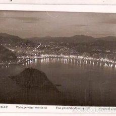 Postales: ANTIGUA POSTAL SAN SEBASTIAN VISTA GENERAL NOCTURNA ESCRITA 1962 MANIPEL. Lote 55274491