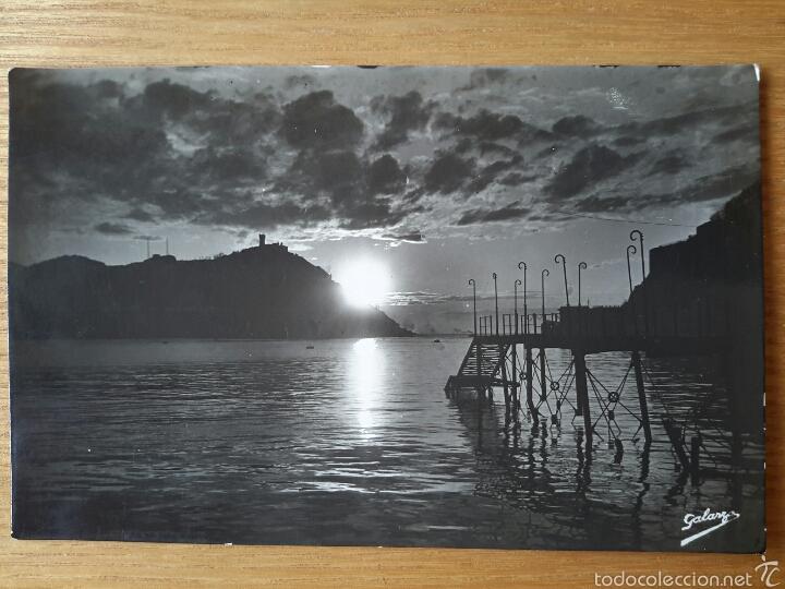 SAN SEBASTIAN. EFECTOS DE SOL EN LA BAHIA. ED. FOTO GALARZA. DONOSTIA. (Postales - España - País Vasco Moderna (desde 1940))