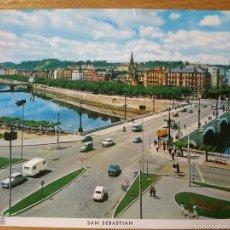 Postales: SAN SEBASTIAN. RÍO URUMEA Y PUENTES. ED. MANIPEL. DL 1966. DONOSTIA. Lote 55391834