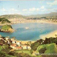 Postales: POSTAL A COLOR SAN SEBASTIAN VISTA GENERAL DESDE EL MONTE IGUELDO ESCRITA 1962 MANIPEL. Lote 55554961