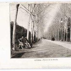 Postales: VITORIA PASEO DE LA SENDA REVERSO SIN DIVIDIR. SIGLO XIX. SIN CIRCULAR. Lote 55569672