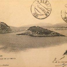 Postales: SAN SEBASTIÁN - EL CASTILLO DE LA MOTA- 1480 HAUSER Y MENET, SIN DIVIDIR. Lote 55865477