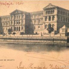 Postales: BILBAO , UNIVERSIDAD DEUSTO - 71 HAUSER Y MENET, SIN DIVIDIR. Lote 55891975