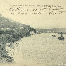 Postales: POSTAL SAN SEBASTIAN - PASAJES ENTRADA DE LA BAYA - J. LATIEULE, EDITOR. Lote 55913658