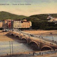 Postales: SAN SEBASTIÁN.-. PUENTE DE SANTA CATALINA. Lote 56253401