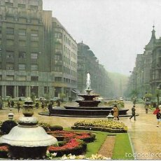 Postales: BILBAO - PLAZA DE FEDERICO MOYÚA - ESCRITA - 1968. Lote 56303610