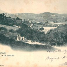 Postales: SAN SEBASTIAN - EL VALLE DE LOYOLA - HAUSER MENET Nº914 - REVERSO SIN DIVIDIR CIRC 1905. Lote 56329168