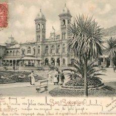Postales: SAN SEBASTIAN - EL CASINO - ROMMLER & JONAS Nº16550 - REVERSO SIN DIVIDIR CIR 1907. Lote 56329452