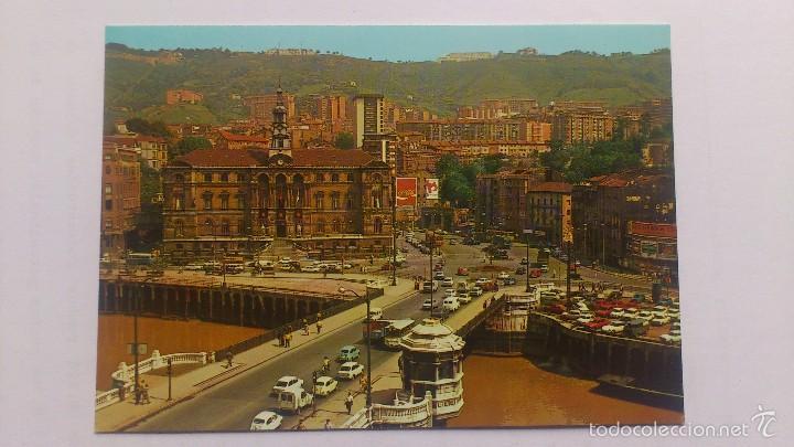 POSTAL BILBAO -AYUNTAMIENTO Y PUENTE DE GENERAL MOLA (Postales - España - País Vasco Moderna (desde 1940))