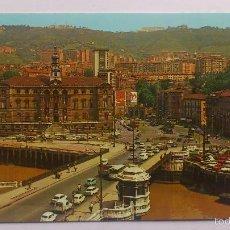 Postales: POSTAL BILBAO -AYUNTAMIENTO Y PUENTE DE GENERAL MOLA. Lote 56669424