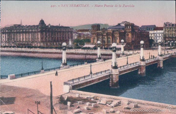 POSTAL 441- SAN SEBASTIAN, NUEVO PUENTE DE LA ZURRIOLA. ED GREGORIO G. GALARZA (Postales - España - País Vasco Moderna (desde 1940))