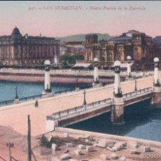 Postales: POSTAL 441- SAN SEBASTIAN, NUEVO PUENTE DE LA ZURRIOLA. ED GREGORIO G. GALARZA. Lote 56795668