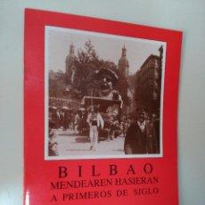 Postales: 24 POSTALES DE BILBAO A PRIMEROS DE SIGLO. ED. ARGITARATZAILEA.. Lote 56819903