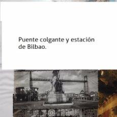 Postales: BILBAO DOS POSTALES EN BLANCO Y NEGRO , ESTACION. Lote 56664319
