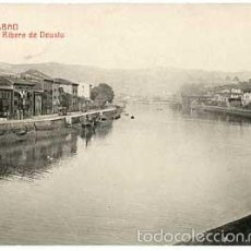 Postales: BILBAO RIBERA DE DEUSTO ED. G. L. FOTOTIPIA CASTAÑEIRA Y ALVAREZ. SIN CIRCULAR. Lote 56996158
