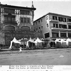 Postales: ZARAUZ (GUIPUZCOA).- HOTEL LA PERLA Y RESIDENCIA SAN MIGUEL. Lote 57203197