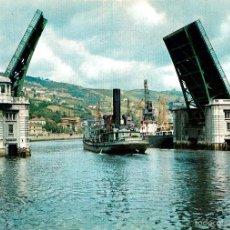 Postales: BILBAO - PUENTE BASCULANTE DEL GENERALISIMO 1960 - GARRABELLA Nº14 - BARCO. Lote 57303737