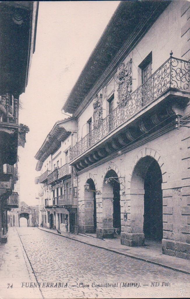 TARJETA POSTAL. FUENTERRABIA. Nº 73. CASA CONSISTORIAL. FOTO N.D. (Postales - España - Pais Vasco Antigua (hasta 1939))