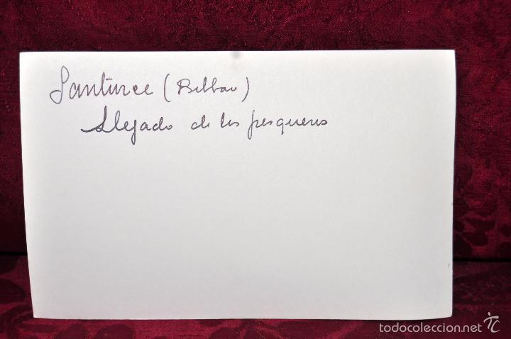 Postales: ANTIGUA FOTOGRAFIA DE SANTURCE (BILBAO). LLEGADA DE LOS PESQUEROS. - Foto 2 - 57521293