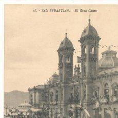 Postales: SAN SEBASTIÁN .- EL GRAN CASINO. . Lote 57645663