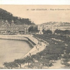 Postales: SAN SEBASTIÁN .-PLAZA DE CERVANTES Y CASINO. Nº 26.. Lote 57645682