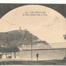 Postales: SAN SEBASTIÁN.- EL MONTE IGUELDO DESDE EL TUNEL. Nº 189.. Lote 57645762