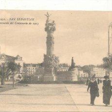 Postales: SAN SEBASTIÁN.- MONUMENTO DEL CENTENARIO DE 1913. Nº 230.. Lote 57645803