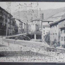 Postales: (47918)POSTAL ESCRITA,CALLE DE BIDEBARRIETA,EIBAR,GUIPÚZCOA,PAIS VASCO,DORSO SIN DIVIDIR. Lote 57682481