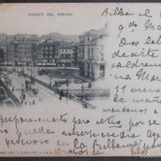 Postales: (47976)POSTAL ESCRITA,PUENTE DEL ARENAL,BILBAO,VIZCAYA,PAIS VASCO,DORSO SIN DIVIDIR. Lote 57683297