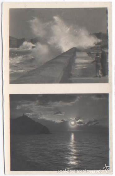 POSTAL SAN SEBASTIAN GRANDES MAREAS EFECTOS DE SOL ED. GALARZA (Postales - España - País Vasco Moderna (desde 1940))