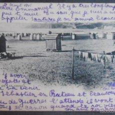 Postales: (48112)POSTAL ESCRITA,PLAYA DE LAS ARENAS,BILBAO,VIZCAYA,PAIS VASCO,DORSO SIN DIVIDIR. Lote 57798864