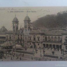 Postales: POSTAL SAN SEBASTIAN - GRAN CASINO, CIRCULADA CON SELLO AÑO 1915. Lote 57949824