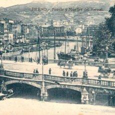Postales: BILBAO - PUENTE Y MUELLES DEL ARENAL - L.G.. Lote 58009962