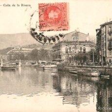 Postales: BILBAO - CALLE DE LA RIVERA - ALMACENES AMANU Nº4. Lote 58010026