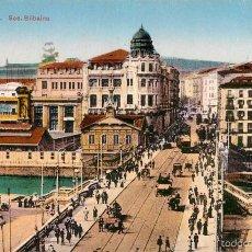 Postales: BILBAO - PUENTE - SOC. BILBAINA - TRANVIA. Lote 58010032