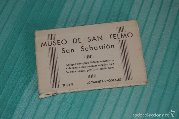 LIBRITO, 20 TARJETAS POSTALES - MUSEO DE SAN TELMO, SAN SEBASTIÁN - SERIE II - HAUSER Y MENET MADRID (Postales - España - País Vasco Moderna (desde 1940))