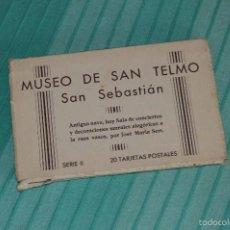 Postales: LIBRITO, 20 TARJETAS POSTALES - MUSEO DE SAN TELMO, SAN SEBASTIÁN - SERIE II - HAUSER Y MENET MADRID. Lote 58362478