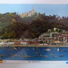 Postales: SAN SEBASTIAN. REGATA DE TRAINERAS. . Lote 58395484