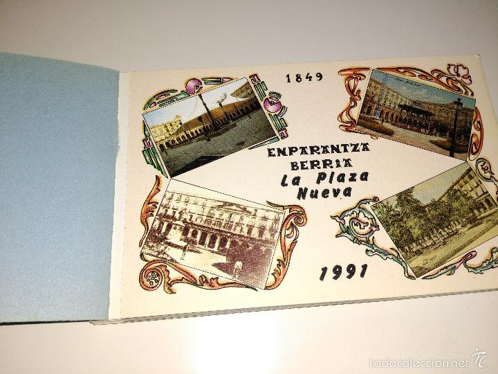 BLOCK DE 12 POSTALES DE LA PLAZA NUEVA DE BILBAO. 1991 (Postales - España - País Vasco Moderna (desde 1940))