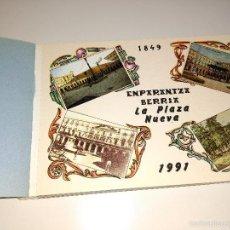 Postales: BLOCK DE 12 POSTALES DE LA PLAZA NUEVA DE BILBAO. 1991. Lote 58414990